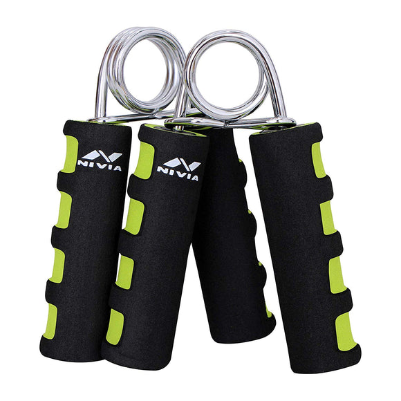 Nivia Hand Gripper - Best Hands Exerciser - Grip Strengthener - Increased Forearm Muscularity. Increased Hand Strength. Hand Endurance. Improved Dexterity and Calmness.