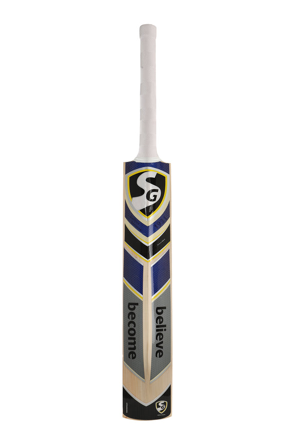 SG Sierra Plus Kashmir Willow Bat Traditionally shaped and styled for maximum stability while playing shots. Thick edges and curved blade for all-round balance and control. Comes with web tape in front for extra protection & full length bat cover. Available in size SH.