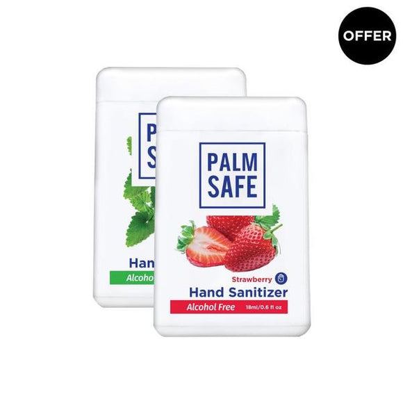 Palm Safe Alcohol-Free Pocket-Size Hand Sanitizer Spray 18 Ml (Strawberry And Peppermint)
