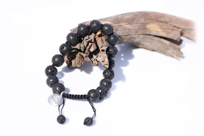 Lava rock Mala Bracelet for Men