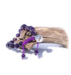 Amethyst Mala Beads Bracelet for Women Front View