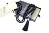 8mm Obsidian Mala Beads Wrap Necklace with Removable Tassel - MeruBeads