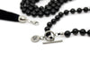 MeruBeads Obsidian Japa Mala Necklace with Removable Tassel
