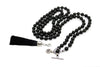 MeruBeads Obsidian MalaBeads Necklace with Removable Tassel