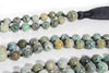 MeruBeads Premium African Turquoise Mala Necklace for women