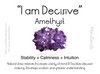 Amethyst gemstone benefits card