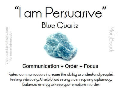 Blue Quartz Mantra Card
