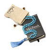 Blue Quartz Mala Beads Necklace