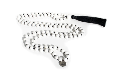 MeruBeads Premium Howlite Meditation Necklace