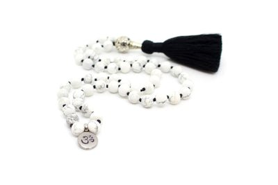 Howlite Pocket Mala - 54 Beads Mini Mala - MeruBeads