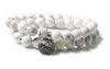 Howlite Wrap Bracelet - Small / Medium Size
