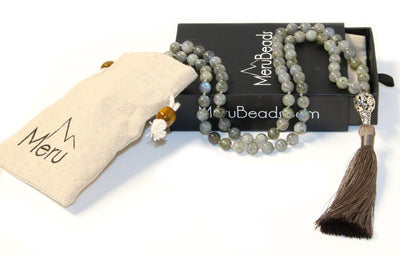 Labradorite Mala Beads Necklace - MeruBeads