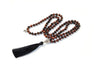 Tiger's eye gemstone mala beads necklace