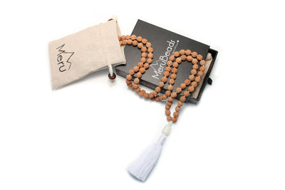 Moonstone Mala Beads Necklace