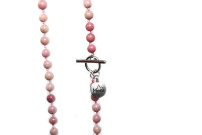Rhodonite Mala Beads Necklace