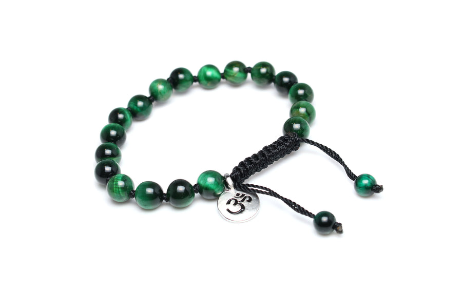 Tiger's Eye Green Mala Bracelet for Men