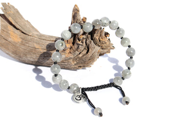 Labradorite Adjustable Mala Bracelet for Men - MeruBeads