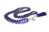 8mm Lapis Lazuli Mala Beads Wrap Necklace with Removable Tassel - MeruBeads