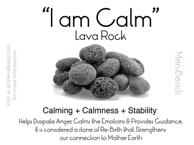Lava rock mantra card