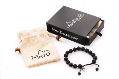 MeruBeads Lava Rock Bracelet for Men