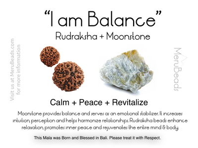Moonstone Gemstone Mantra Card