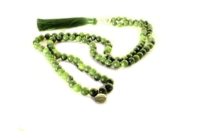 Nephrite Jade Mala Beads Necklace - MeruBeads