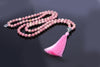 Rhodonite mala beads necklace 8mm 108 beads