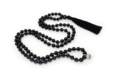 MeruBeads Premium Obsidian Meditation Necklace