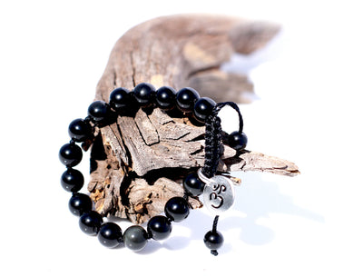 Obsidian Black Mala Bracelet for Women - MeruBeads