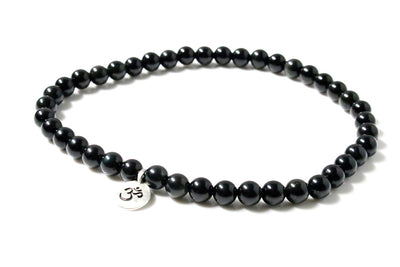Obsidian Wrap Bracelet for Women  - Small / Medium Size
