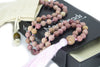 Rhodonite Mala Beads Necklace - Gemstone Guru - MeruBeads
