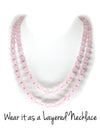 MeruBeads Premium Rose Quartz Mala Necklace for women
