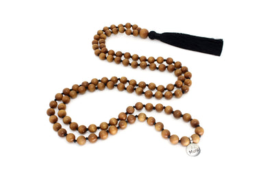 MeruBeads Premium Sandalwood Meditation Necklace