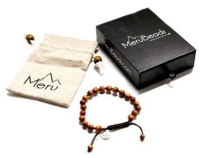 Sandalwood Mala Bracelet for Women - MeruBeads