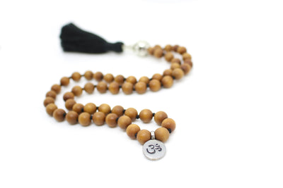 Sandalwood Pocket Mala - 54 Beads Mini Mala - MeruBeads