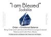 "Sodalite Mala Beads Necklace - ""I am Blessed"" - MeruBeads"