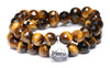 Faceted Tiger's Eye Yellow Wrap Bracelet