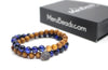 Tiger's Eye Blue & Sandalwood Wrap Bracelet for Men - MeruBeads