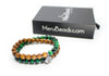 Tiger's Eye Green & Sandalwood Wrap Bracelet for Men - MeruBeads