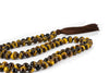 "Tiger's Eye Yellow Mala Beads Necklace - ""I am Lucky"" - MeruBeads"
