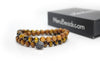 Tiger's Eye Yellow & Sandalwood Wrap Bracelet for Men - MeruBeads