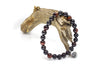 Tiger's Eye Red & Black Sandalwood Wrap Bracelet for Men