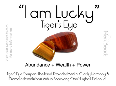 Tiger's Eye Gemstone Mantra Card