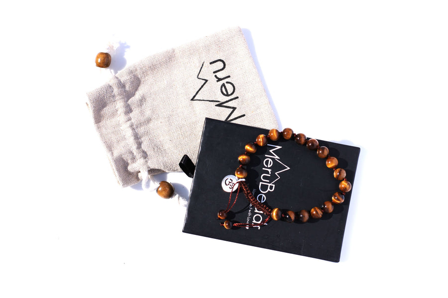 Tiger's Eye Mala Bracelet for Men