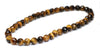 Faceted Tiger's Eye Yellow Wrap Bracelet flat