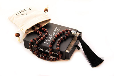 Tiger's eye mala beads necklace