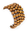 8mm Sandalwood Mala Beads Wrap Necklace with Removable Tassel