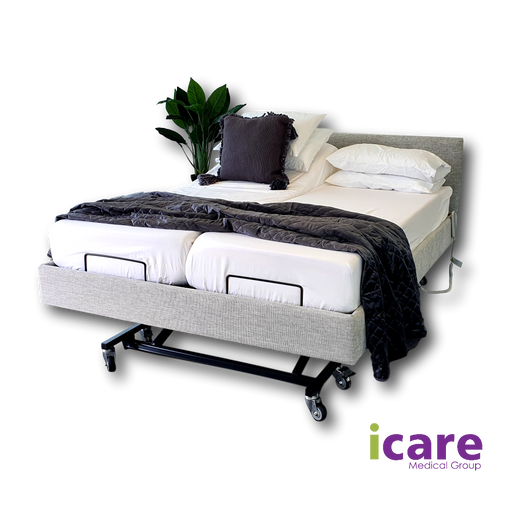 Bed Stone Split Queen and Medium Mattress IC333