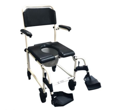 Deluxe Mobile Commode and Shower Chair