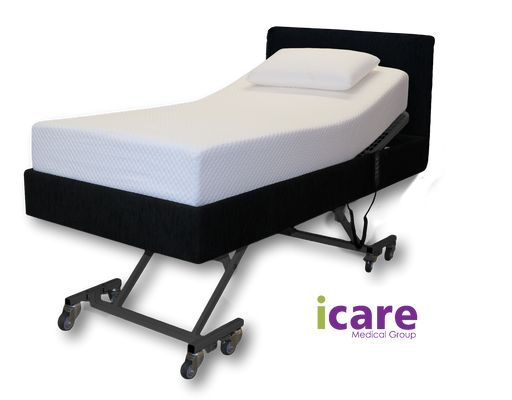 Bed Long Single Onyx  with Medium Mattress IC333 Package